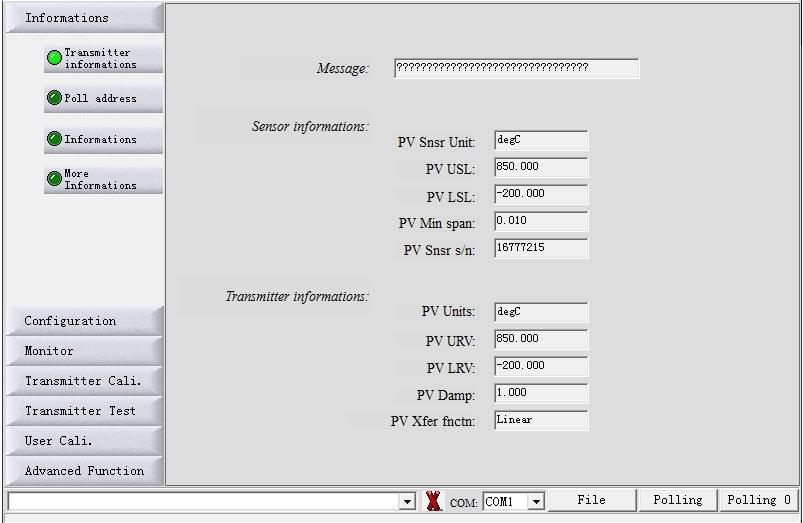 Botão Information F500-TTR