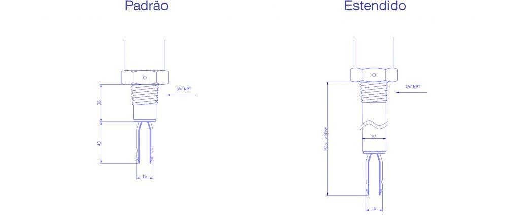 Comprimento de Inserção F500-CHV