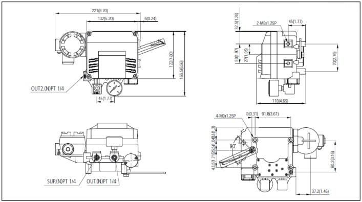 Dimensional F500-PV4 L