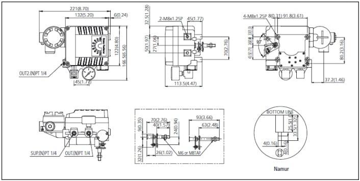 Dimensional F500-PV4 R