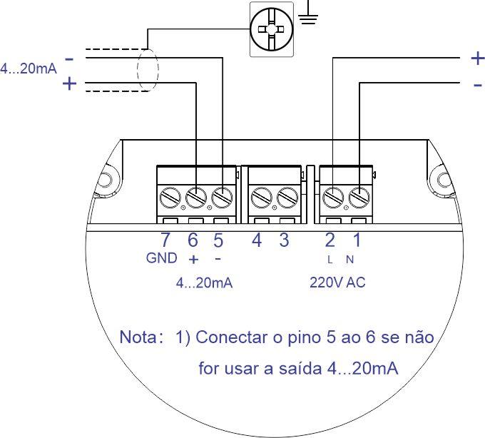 Esquema de Ligação a 04 fios F500-ULT
