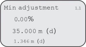 Min Adjustment F500-ULT