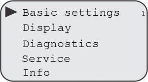 Opções do Display F500-ULT