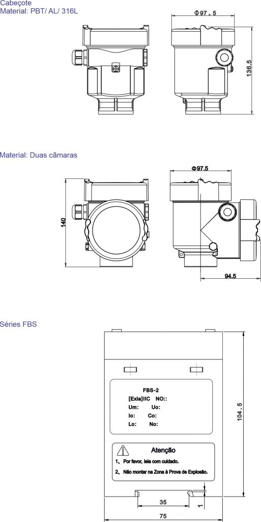 Dimensões F500-ULT